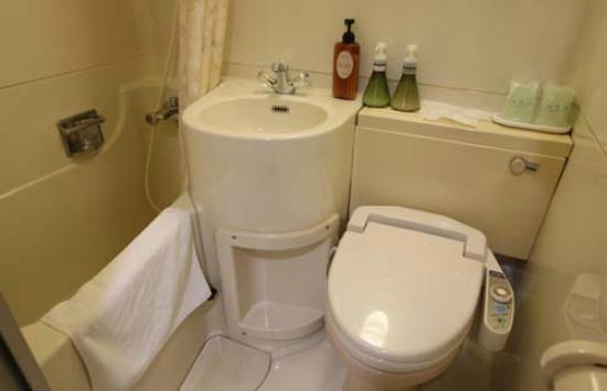 Hiroshima Rich Hotel Namiki-Dori: ウォシュレット付トイレ有りのユニットバス