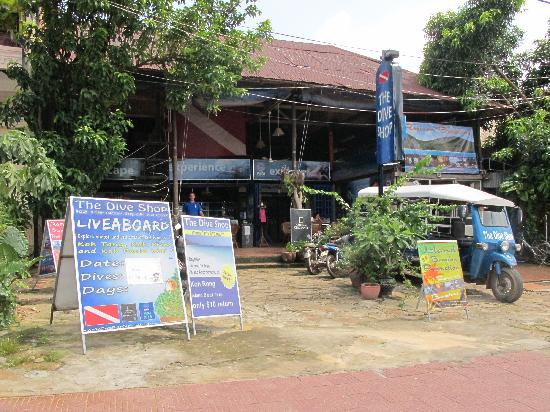 The Dive Shop Cambodia: The Dive Shop's old office in Sihanoukville