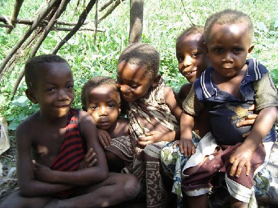 República Democrática del Congo: Pygmy children
