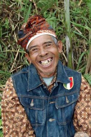 Bali Eco Village: Papa Rukool Coffee Man