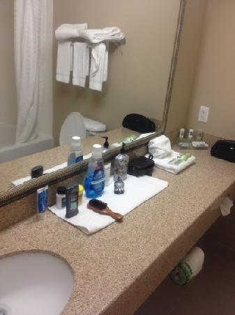 Country Inn & Suites By Carlson, Dothan: one of the housekeepers organized and placed my things on the towel for me