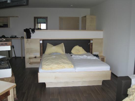 Gartnerkofel: sehr schönes Bett, schlafen wie 1000 und eine Nacht