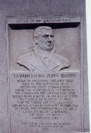 Irish Heritage Trail: John Barry Memorial, Boston Common