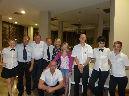 Pavlo Napa Beach Hotel : The fantastic tiffany restaurant and pool restaurant staff