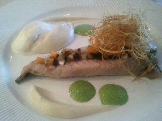 Hotel La Guérinière : le plat filet de maquereau à peine cuit