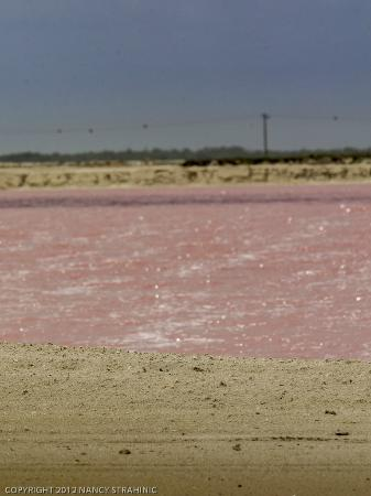 Rio Lagartos Adventures: Near Las Caloradas feast your eyes upon the mountain of salt, extracted from the pink salt pools