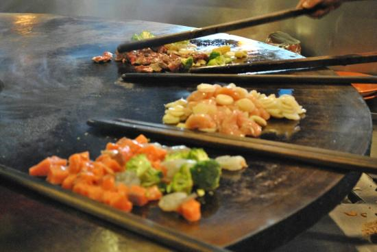 Blue Pacific Grill: All meals cooked on our flat top grill