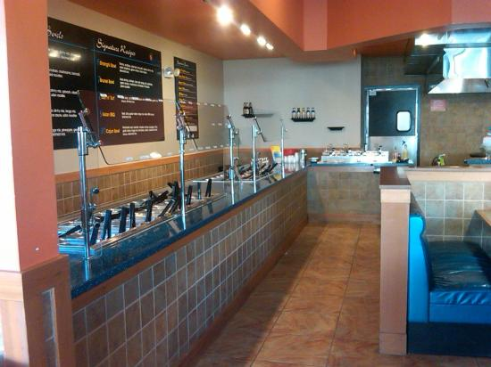 Blue Pacific Grill: Our food line featured a wide variety of gluten free and vegetarian options