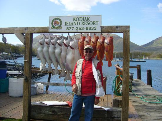 Alaska's Kodiak Island Resort: Just an average day's catch!!!