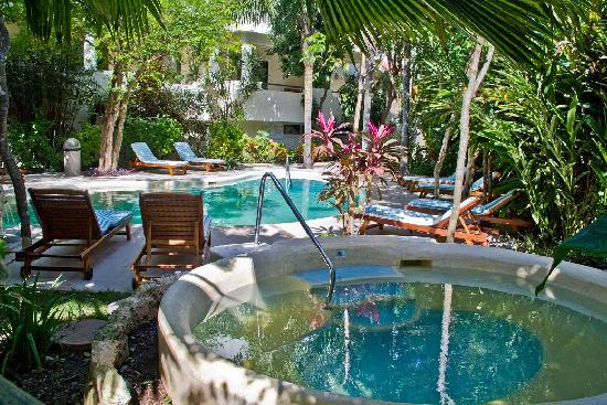 Riviera Maya Suites: jacuzzi and pool