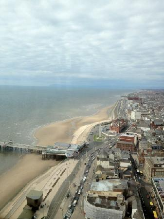 Tour et Cirque de Blackpool (Blackpool Tower and Circus) : view from the tower