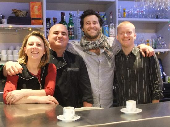 Le Bistrot de Quentin: The Owner and Crew!