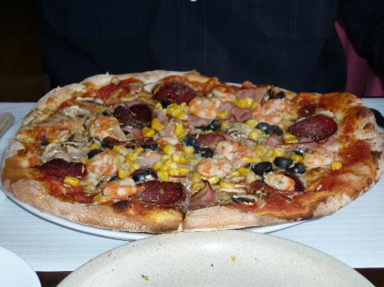 Pizzolino: Uma das fabulosas pizzas.