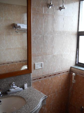 The Eee Cee Hotel: bathroom..small but adequate