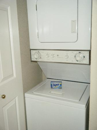 Suites at Fall Creek: Washer & dryer behind door in kitchen-very convenient.