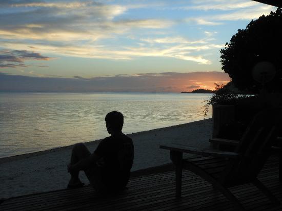 Hotel Matira : tramonto
