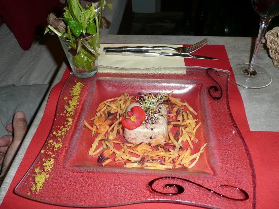 Hotel le Medieval : Amazing starter at Les Tours - fantastic restaurant
