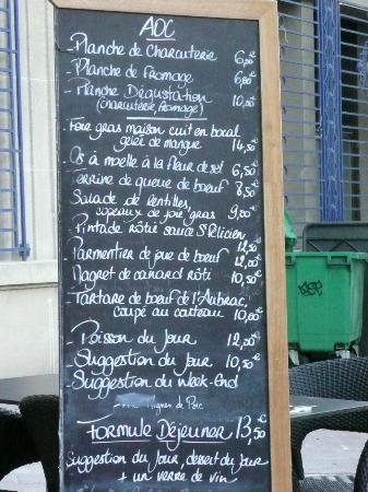 AOC 84: The menu .. .. ENJOY !!