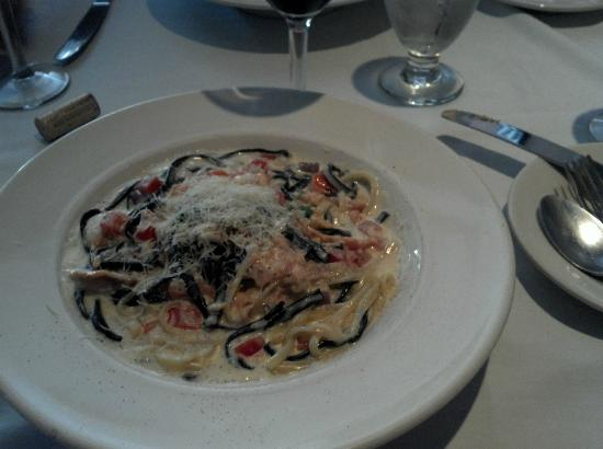 Cafe Mundial Black White Linguine With Smoked Salmon In A Vodka Cream Sauce Birthday Cake Martini