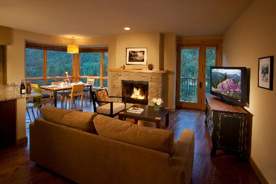 Edelweiss Lodge & Spa: A typical condo living room