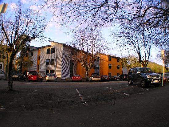 nikau apartments in the evening