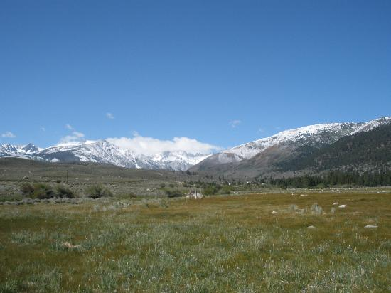 Hunewill Guest Ranch: Fresh snow in June, a beautiful sight on the Sawtooth Range