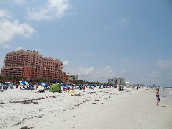 Thursday mid-day in early June on Clearwater Beach, FL