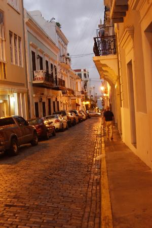 Legends of Puerto Rico: Dusk settling in as we walk along...