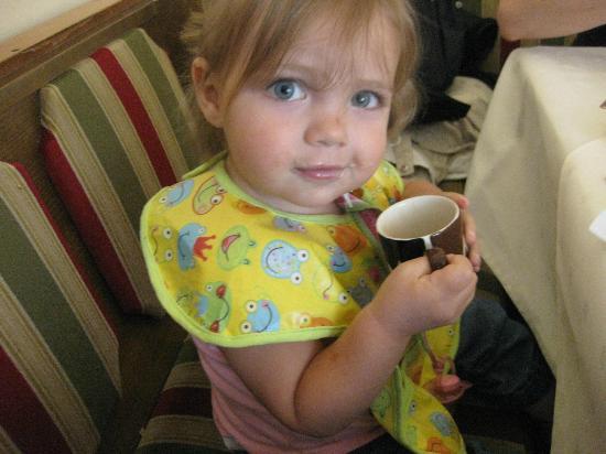 Boppard Hotel Ohm Patt: Chocolate milk at breakfast!