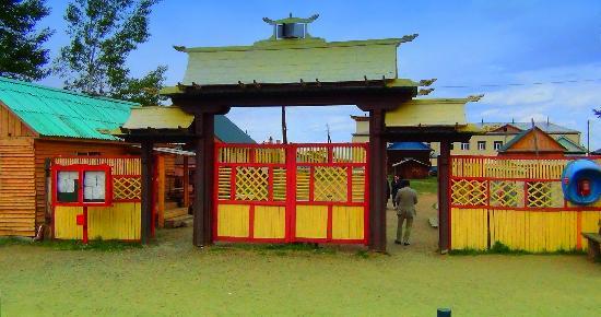 Ivolginsk Datsan (Buddhist Monastery): Вход в на территорию дацана
