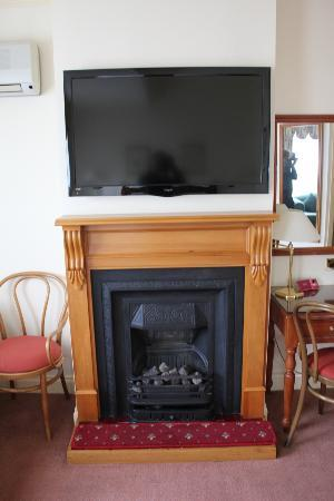 Mountain Heritage: Fireplace and TV