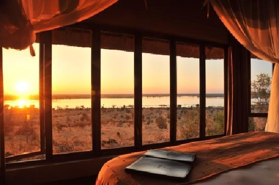 Ngoma Safari Lodge: Sunset from your suite
