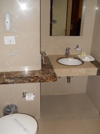 Hotel Kiranshree Portico: bathroom....