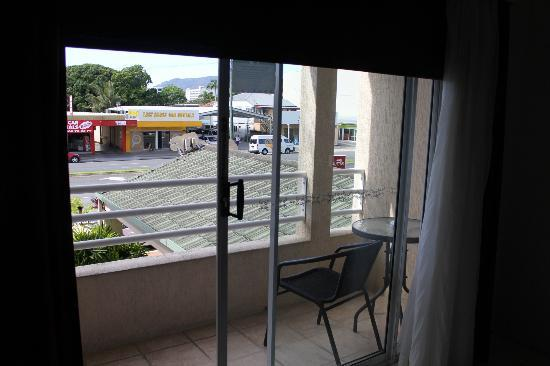 Cairns City Sheridan: View from room, try and get a poolside room for nicer views.