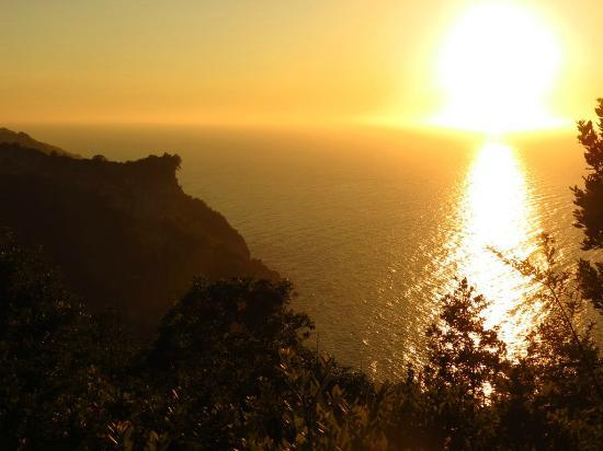 Yali Otel: View of the sunset as we drove into Cide