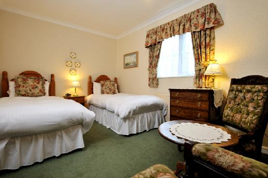 Dolvean House: Twin Bedded room on the ground floor