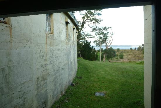 McLeod Ecofarm: View from prison cells to the beach