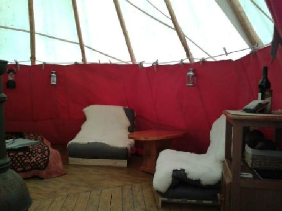 Mid Wales Tipis: Inside the tipi