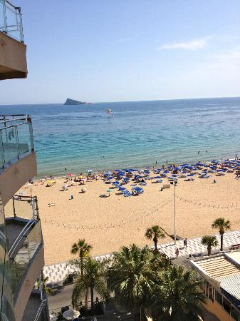 Hotel Cimbel: Daytime view of the beach from Cimbel 7th Floor room