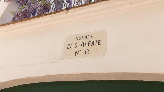 Museo Casa Natal Federico Garcia Lorca : Inscription de la casa