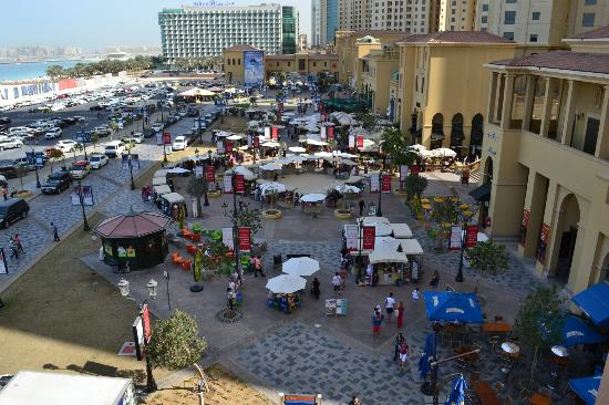 D Exhibition Jbr : View of jumeirah beach walk from the hotel picture