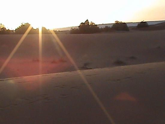 Travels Morocco: A beautiful sunrise in the desert.