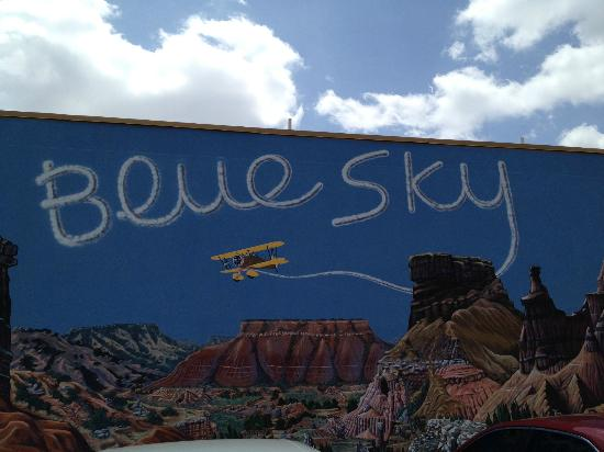 Blue Sky Cafe Mural