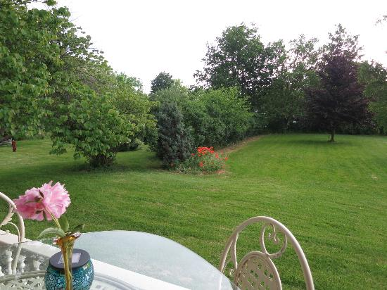 A Stone's Throw Bed and Breakfast: View from porch