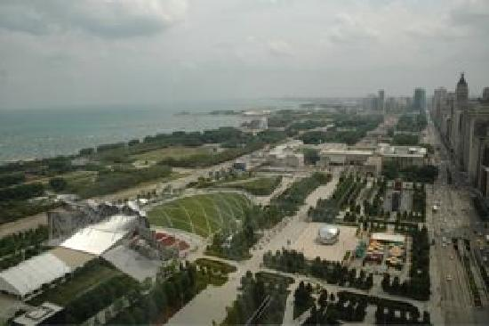 Manilow Suites at Millennium Park Plaza: Fantastic view of Millennium Park from your window.