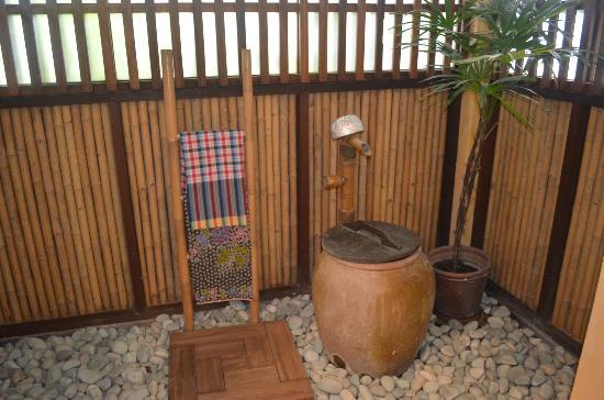 Traditional Thai bathing area Cute novelty addition to bathroom