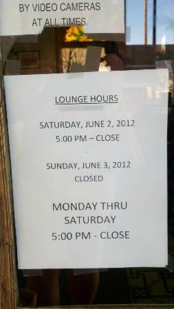 Olive Hotel: Lounge Sign