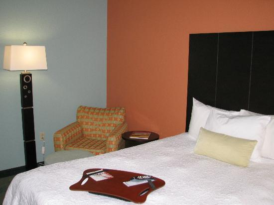Hampton Inn St. Simons Island : Comfy bed, reading chair