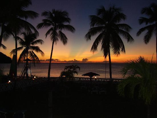 St. Lucian by Rex Resorts: sunset view from room balcony