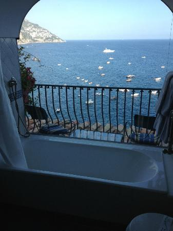 Hotel Miramare: View from the bath room 209